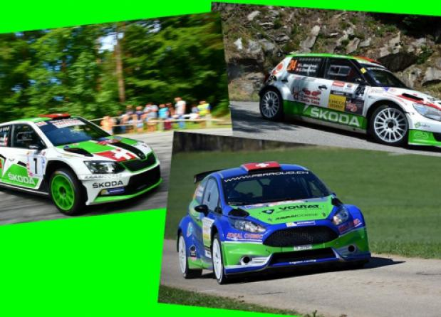"""TRIS OF CARS AT THE START OF """"20° RALLY RONDE TICINO"""""""