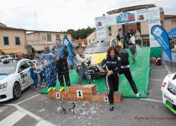 "THIRD OVERALL PLACE AT THE ""37° RALLY CITTA' DI PISTOIA"""